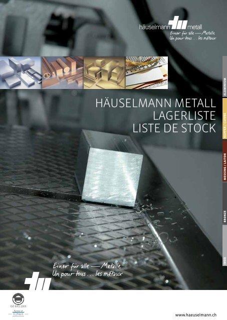 Bestellen Sie unser aktuelle Lagerliste! - Häuselmann Metall GmbH