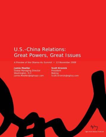 US-China Relations - Ogilvy Public Relations Worldwide