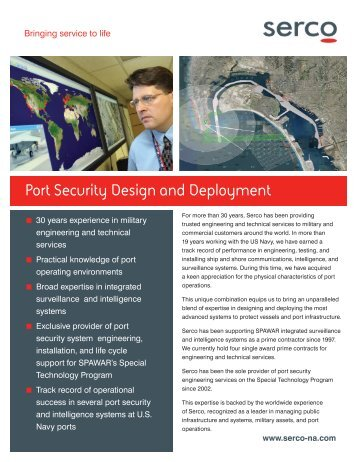 Port Security Design and Deployment - Serco