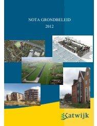 Nota grondbeleid 2012 na cie - Gemeente Katwijk
