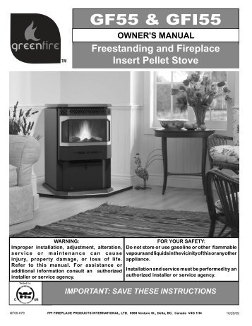 GF55 & GFI55 - Regency Fireplace Products