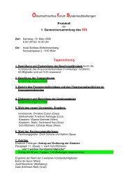 Österreichisches forum Systemaufstellungen Protokoll 1 ...