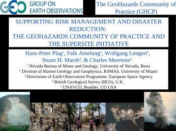 Supersite Initiative - University of Nevada, Reno