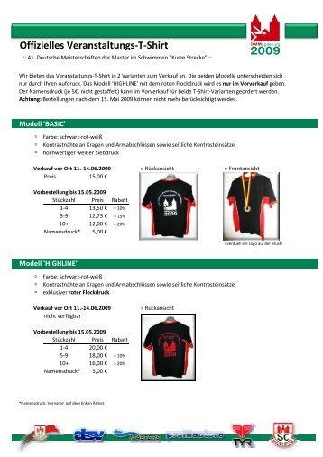 Informationen und Bilder zu den T-Shirts - kurze Strecke