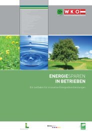 ENERGIESPAREN IN BETRIEBEN - klima:aktiv Contracting Portal