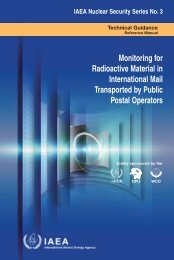 Monitoring for Radioactive Material in ... - IAEA Publications