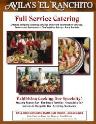 Catering Menus - Your Restaurant Connection