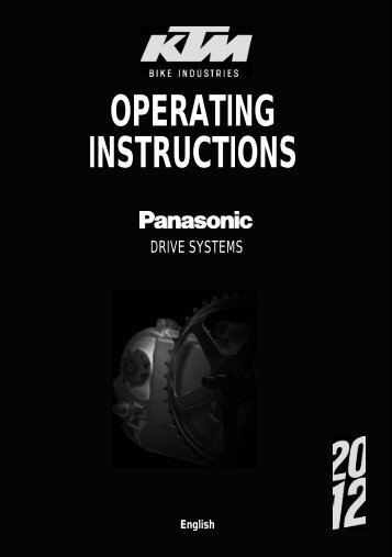 OPERATING INSTRUCTIONS - KTM