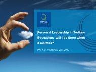 Phil Ker's presentation slides available - HERDSA 2013 conference