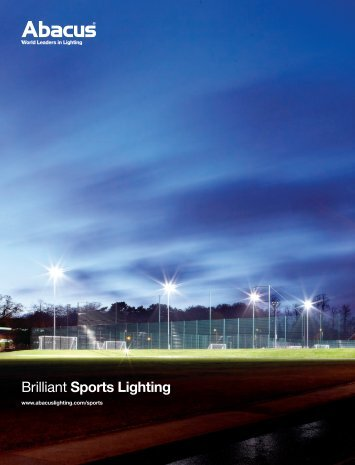 Sports Lighting Brochure - Abacus Lighting