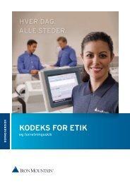KODEKS FOR ETIK - Iron Mountain