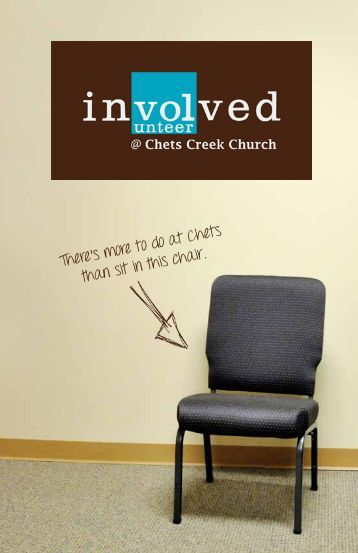 There's more to do at Chets than sit in this chair. - Chets Creek Church