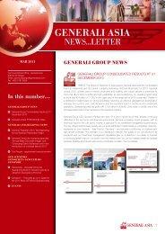 GENERALI ASIA REGIoNAL NEWS