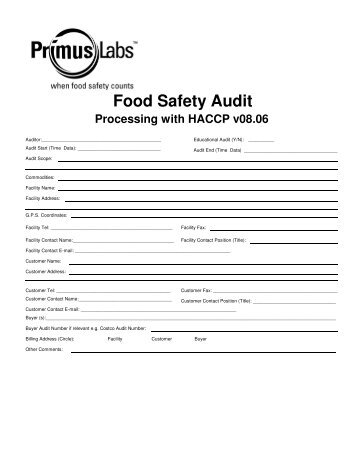 Costco Food Safety Audit Expectations
