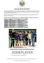 Dame Liga All Stars 2012/2013 - HÃ¥ndbold Spiller Foreningen