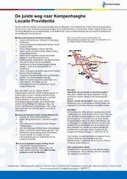 De juiste weg naar Kempenhaeghe locatie Providentia voor web