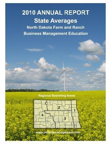 2010 State Report - North Dakota Farm Management