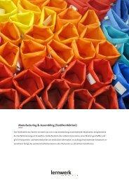 Factsheet Manufacturing & Assembling - Lernwerk