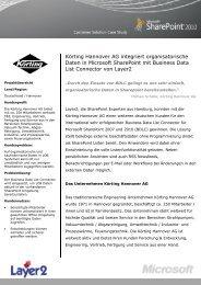 Körting Hannover AG integriert organisatorische  ... - Layer 2 GmbH