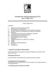 Protokoll der HV 2010 - Reitverein Bern