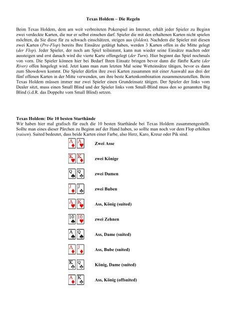 Poker Texas Holdem Regeln