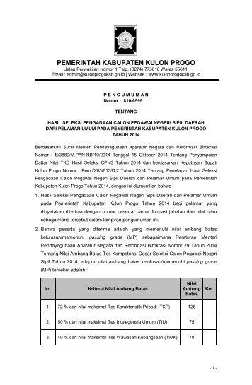 PENGUMUMAN KELULUSAN CPNS 2014 pdf 2