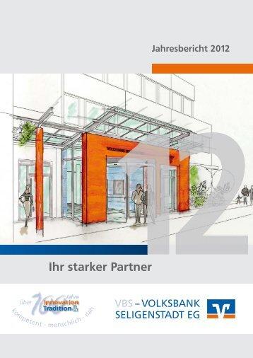 Jahresbericht 2012 - VOLKSBANK SELIGENSTADT EG