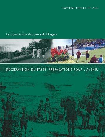 2001 Annual Report - Fre Charl - Niagara Parks