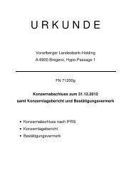 Holdingkonzernabschluss 31.12.2012 - Hypo Landesbank Vorarlberg
