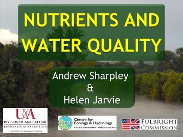 """Download Dr. Andrew Sharpley's presentation - """"Nutrients and ..."""
