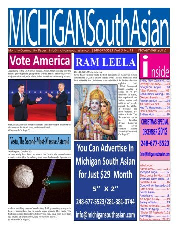 NOV '2012 - Michigan South Asian