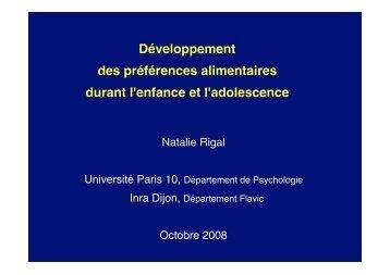 Aliments denses - Danone Institute