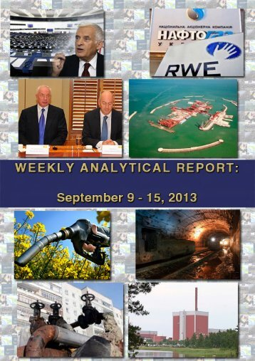 Weekly analytical report: September 9 - 15, 2013 - Українська ...
