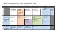 Wochenplan - Schülercampus