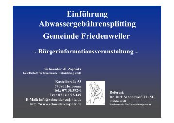 Flächen - Friedenweiler