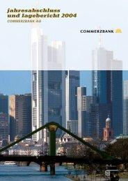 jahresabschluss und lagebericht 2004 commerzbank ag