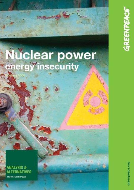 Nuclear power - Greenpeace