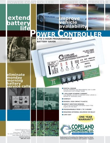 POWER CONTROLLER POW - COPELAND ENGINEERING, INC.