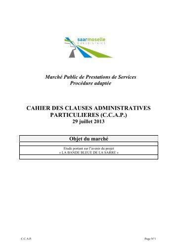 cahier des clauses administratives particulieres (ccap) - Eurodistrict ...