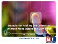 Presentation Used at the STAR Conference 2012 in Milan