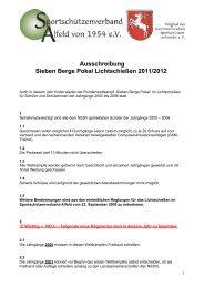 Startzeiten Sieben Berge Pokal - SSV Alfeld