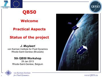 Status of the project - QB50