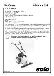 Käyttöohje Niittokone 530 - Savenmaa