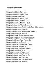 Biography Drawers BiographyAbbott, Gary Lee BiographyAbbott ...