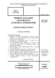 próbny egzamin maturalny z fizyki i astronomii - dlaStudenta.pl