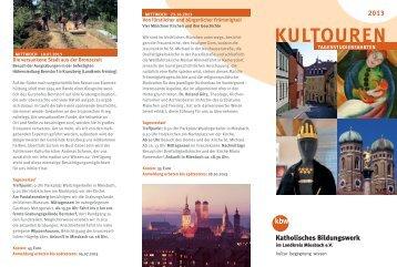 aktuellen Flyer - Katholisches Bildungswerk im Landkreis Miesbach
