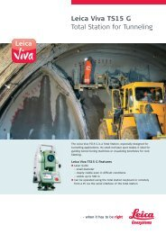 Leica Viva TS15 G Total Station for Tunneling - GeoWILD