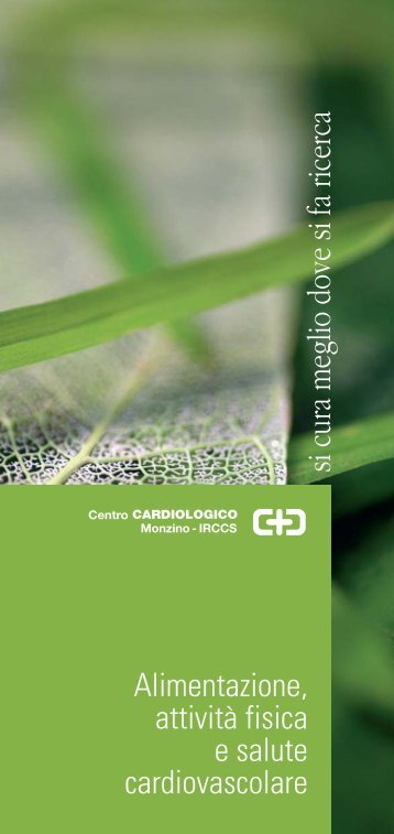 Alimentazione, attività fisica e salute cardiovascolare - Centro ...