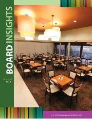FEBRUARY Board Insights Issue - Cal Poly Pomona Foundation