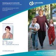 Flyer Heilpädagogische Familienhilfe - Lebenshilfe Essen
